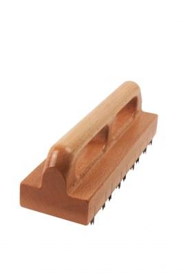Chemin de fer Tuffeautier plat à dents 3mm ép. 5/10ème 80x250mm