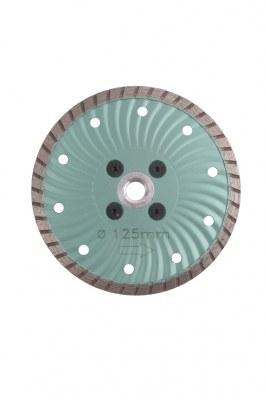 Disque diamant UNIVERSEL Green Ø 125 calcaire & béton + moyeu M14